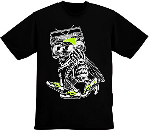 cool-fly-with-magnetophon-mens-t-shirt-large
