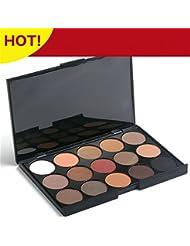 PhantomSky 15 Colores Sombra De Ojos Paleta de Maquillaje Cosmética - Perfecto para Uso Profesional y Diario