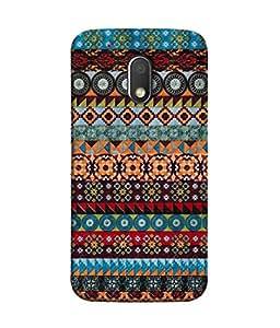 Moto G Play (4th Gen), Motorola Moto G4 Play Back Cover Multi Colour Tribal Pattern Design From FUSON