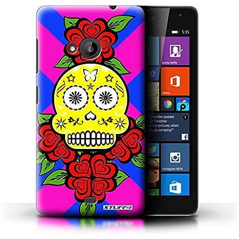 STUFF4 Phone case // Skin/portada NOKLUM535/caramelo de calavera cala Vera collection Gelb/Rose