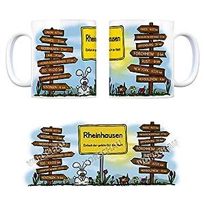 Rheinhausen (Breisgau) - Einfach der geilste Ort der Welt Kaffeebecher - eine coole Tasse von trendaffe - passende weitere Begriffe dazu: Stadt-Tasse Städte-Kaffeetasse Lokalpatriotismus Spruch kw Rio Paris London Weisweil Forchheim York Niederhausen Rus