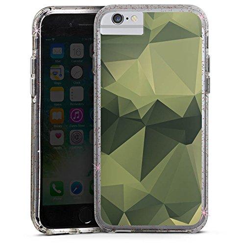 Apple iPhone X Bumper Hülle Bumper Case Glitzer Hülle Camouflage Muster Tarnfarben Bumper Case Glitzer rose gold