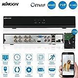 KMOON 4CH Digital Video Recorder Voll 1080N/720p AHD DVR HVR NVR HDMI P2P Cloud Netzwerk Onvif + 1 TB Festplatte unterstützt Plug Play für HD 2000TVL CCTV Sicherheit Kamera-überwachungssystem