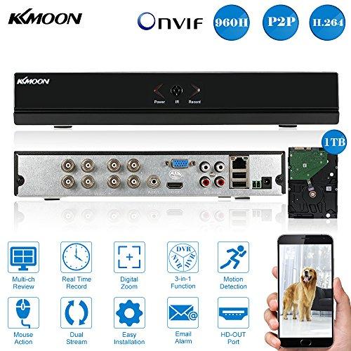 KKmoon-8CH-DVRNVRHVR-Grabadora-de-Video-Full-960HD1-HDMI-P2P-Onvif-1TB-Disco-Duro-AndroidiOS-APP-Deteccin-Movimiento-Alarma-Email-PTZ-para-Cmara-de-Vigilancia-CCTV