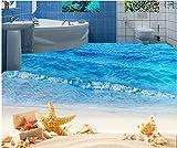 Malilove 3D-Stock Malerei Wallpaper Seaside Beach Stil Wohnzimmer 3D, Malerei 3D-Pvc Tapete 3D-Bodenbeläge