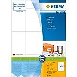Herma 4461 Universal-Etiketten (52,5 x 29,7 mm auf DIN A4 Premium Papier matt) 4.000 Stück auf 100 Blatt, weiß, bedruckbar, selbstklebend