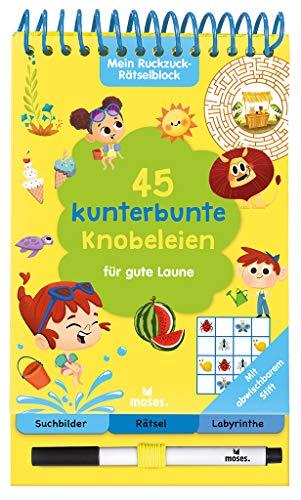 Mein Ruckzuck-Rätselblock für gute Laune | Rätselbuch mit abwischbarem Stift | Für Kinder ab 6 Jahren