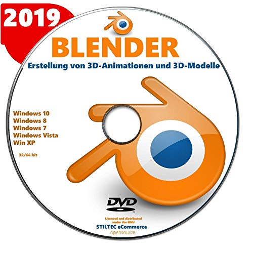 BLENDER 2019 Software zur Erstellung von 3D-Animationen und 3D-Modelle (Blender Animations-software)