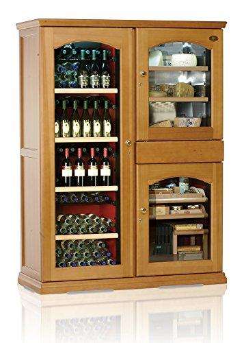 Ip Industrie - Cantina climatizzata legno massello 3 porte in vetro 3 celle con capienza complessiva 238 bottiglie