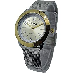POOLS Women's Quartz Watch Analogue Display and Stainless Steel Strap 1240