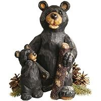 Progettare Toscano per Blagdon JE228500 - Figura Decorativa (resina) e design vivaio orso nei boschi, colore nero