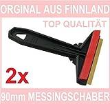 L&P A054-2 Stück Eiskratzer Eisschaber Messingklinge Orginal aus Finnland 100% Qualität (90mm)