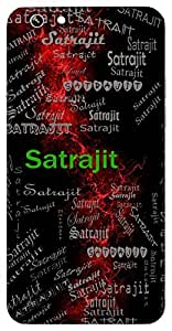 Satrajit (Ever Victorious) Name & Sign Printed All over customize & Personalized!! Protective back cover for your Smart Phone : Samsung Galaxy E5