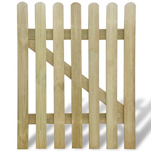 Vidaxl cancello di legno per giardino 100 x 120 cm