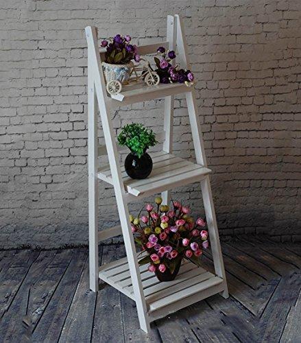 Pflanzenstandplatz Festes Holz-Mehrzweckblumen-Standplatz-Präsentationsständer passend für Wohnzimmer-Balkon im Freien