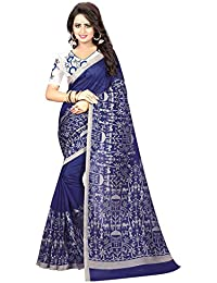 Ishin Mysore Art Silk Navy Blue Madhubani Printed Party Wear Wedding Wear Casual Wear Festive Wear Bollywood New...
