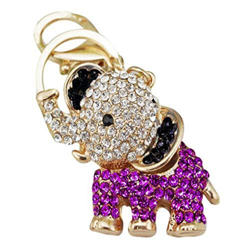 Windy5 Clave del elefante del Rhinestone Anillo Animal mujer bolso de regalo llavero colgante llavero de recuerdo