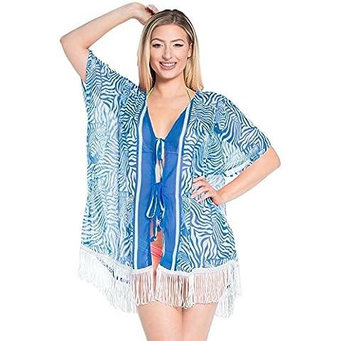 La Leela pura encogimiento boho súper ligeros 5 oz playa la gasa 4 en 1 mujeres túnica kimono partido traje encogimiento traje baño más tamaño chaqueta punto cabo estilo vestido corto encubren