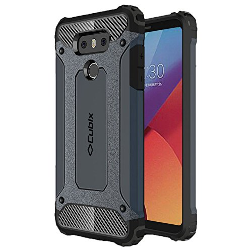 Lg G6 Case Cubix Rugged Armor Case For Lg G6 (navy Blue)