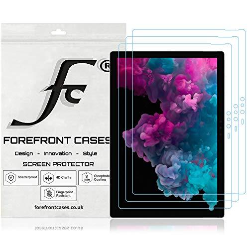 Forefront Cases Microsoft Surface Pro 6 12,3 Zoll Displayschutz Displayschutzfolie [3 STÜCK] | Ultraharte Polyethylenterephthalat (PET) Kunststoff | Ultradünn 0.1mm Staub & Kratzfest | HD-Qualität