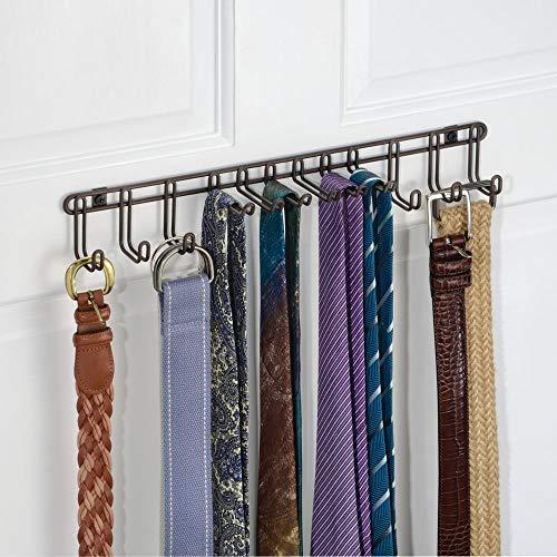 più alla moda materiale selezionato ultima selezione mDesign Set da 2 Appendi Cravatte da Muro - Pratico ...