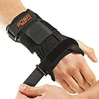 Wrist Support Fitness Glove Adjustable Breathable Fitness Sports Wrist Brace for Both Left Right Hand Use Single Pack