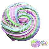 Flauschige Schleim Fluffy Slime Smartip flauschige floam Schleim liefert Jumbo floam Schleim Behälter Stressentlastung Spielzeug duftenden Schlamm Spielzeug für Kinder und Erwachsene 6 Unzen (4 Farbe)
