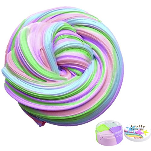 Flauschige Schleim Fluffy Slime Smartip flauschige floam Schleim liefert Jumbo floam Schleim Behälter Stressentlastung Spielzeug duftenden Schlamm Spielzeug für Kinder und Erwachsene 7 Unzen (4 Farbe)