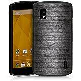 LG Nexus 4 Hülle Schutz Hard Case Cover Metall Look Muster