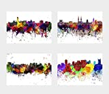 General ART Wanddekoration, Skyline of Cities and Countries