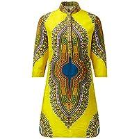 Shenbolen Women African Print Shirt Dashiki Traditional National Clothing(C,XX-Large)
