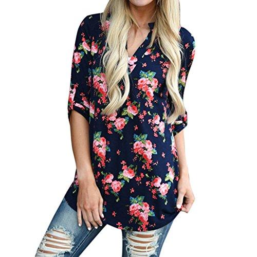 Shmily Girl Mujeres Camisa Elegante Blusa Mangas Largas Camiseta Polsi