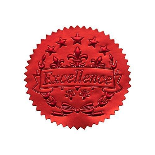 96Award Aufkleber-Rot Zertifikat Dichtungen, Excellence Star Aufkleber für Award ZERTIFIKATE (Gold-folie-zertifikat Dichtungen)