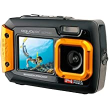 Easypix W1400 Active - Cámara de fotos subacuática (doble pantalla, 20 MP,zoom 4x, sumergible 3 m), color negro