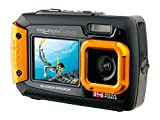 EasyPix W1400 Active wasserdichte 3-m-Digitalkamera, CMOS 14MP, 2,7-Zoll-LCD, Orange-Schwarz