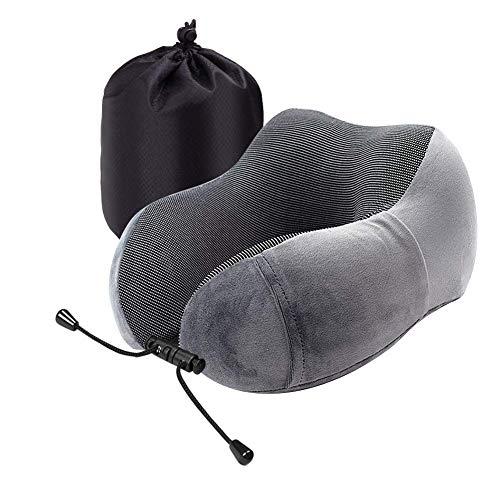 Reisekissen Nackenkissen Bequemes und Leichtes Reisen Kissen mit Aufbewahrungstasche- für Schlaf im Flugzeug, Büro, Auto oder Zug Nackenrollen -