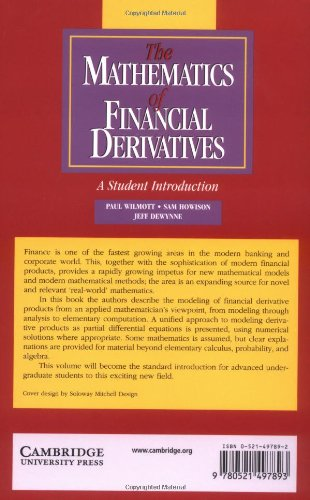 The Mathematics of Financial Derivatives Paperback: A Student Introduction