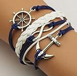 GYJUN Armbänder Wickelarmbänder / Lederarmbänder Aleación / Leder Unendlichkeit / Anker Party / Alltag / Normal Schmuck Geschenk Blau,1 Stück , blue
