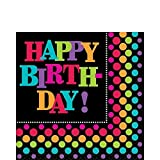 Amscan International Party on Party Napkins, Pack of 16
