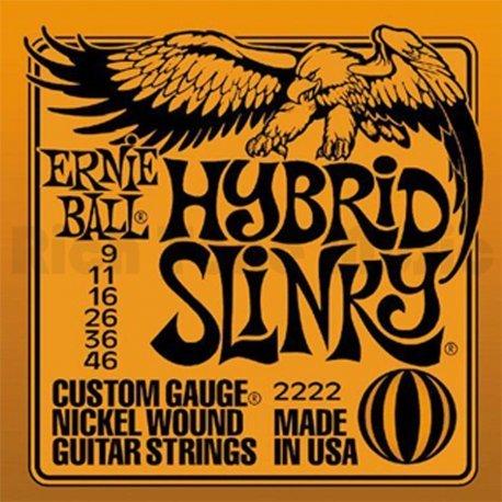 Traje de cuerdas Ernie Ball 2222Hybrid Slinky para guitarra eléctrica 9/46
