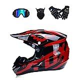 WenYan Motocross Casque Moto Casque Scooter ATV Casque VTT Race D. O. T certifié Fox...