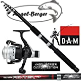 DAM Angelset Teleskoprute und Rolle Angel Berger Custom Edition