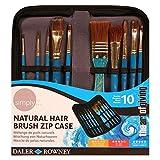 Daler Rowney Trousse zippée de 10 pinceaux simply natural hair