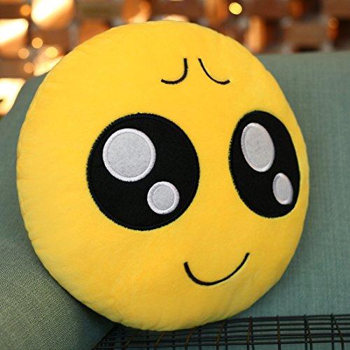 Emoji Kissen Pitiful Face Kissen, Lila-Salt® - Emoticon Nettes weiches angefülltes bequemes Plüsch-smiley-Kissen-Kissen, 28cm / 12 Zoll Gelb rundes starkes, buntes Neuheit-Geschenk