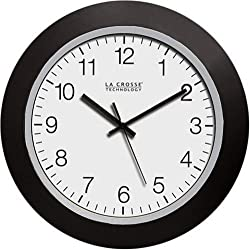 La Crosse Technology Wt-3102b 10-inch Wwvb Self-set Analog Wall Clock & Automatic Dst Reset By La Crosse Technology