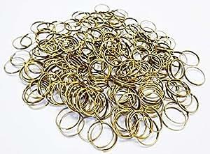 250 ottone antico finitura cromata o in rame 14 mm grandi anelli di fissaggio metallo lampadario ghirlande catene di cristalli gocce per bordatura decorazioni acchiappasole , metallo, Antique Brass