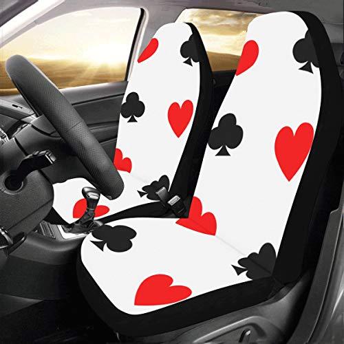 Poker Papier Anzahl Spiele Benutzerdefinierte Neue Universal Fit Auto Drive Autositzbezüge Schutz Für Frauen Automobil Jeep Lkw Suv Fahrzeug Full Set Zubehör Für Erwachsene Baby (set Von 2 Vorne)