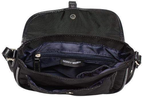Gerry Weber - Lemon Mix Flap Bag, Borsa a tracolla Donna Nero (Schwarz (black 900))