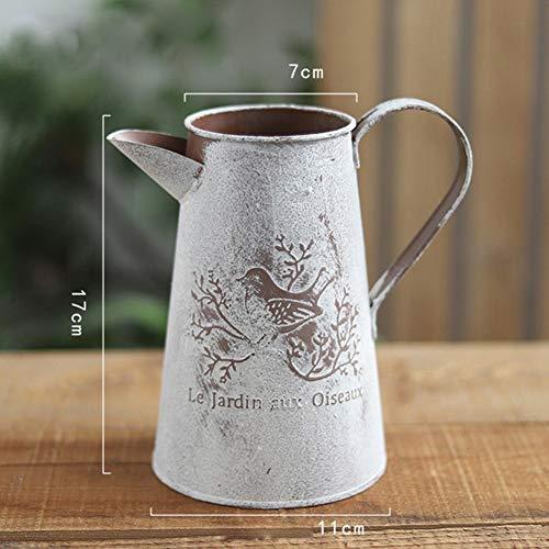 1 Stück Metall Pastorale Deko Blumentopf Home Dekoration Vintage Eisen Vase Krug Blume Eimer - Vintage Garden Vase