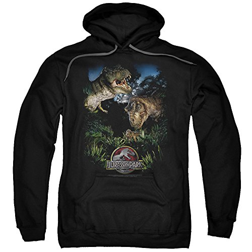 2Bhip Jurassic Park Dinosaur Movie Spielberg Happy Family Adult Pull-Over Hoodie